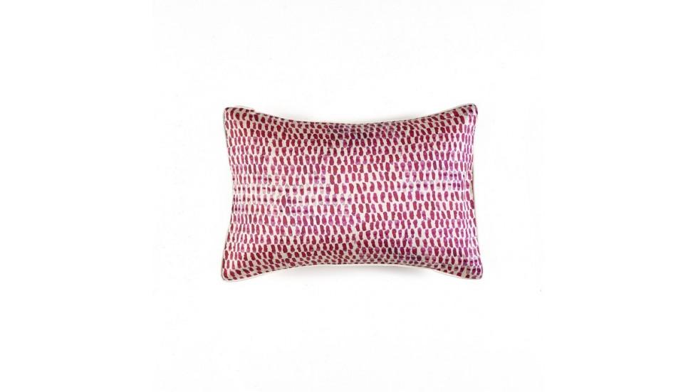 coussin soria soie elitis rose indien. Black Bedroom Furniture Sets. Home Design Ideas