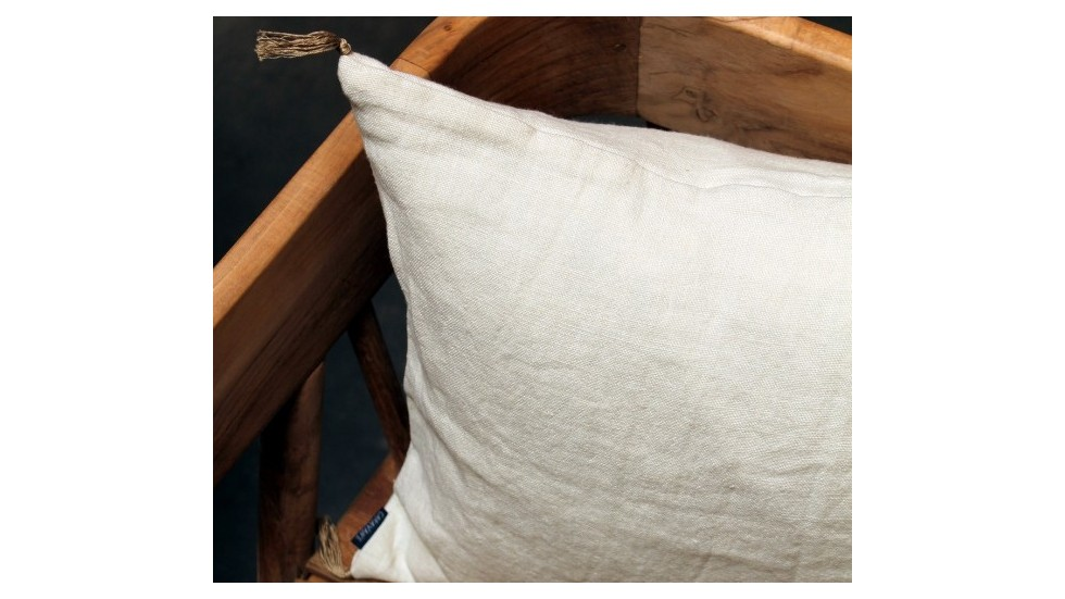 coussin caravane en lin creme luni. Black Bedroom Furniture Sets. Home Design Ideas