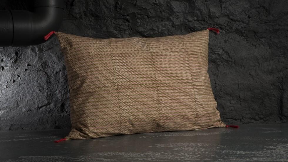 Coussin caravane coton imprime florio rose for Caravane chambre 19 linge maison