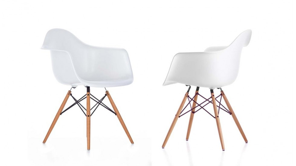 Eames daw stunning eames daw chair with eames daw for Vitra eames plastic armchair replica