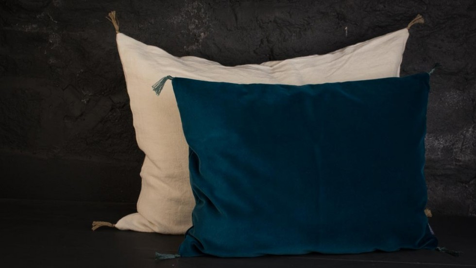 COUSSIN VELOURS SMOOTH CARAVANE PAON