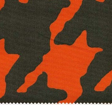 CAT : B  BLOCK PRINT-PIED DE POULE ORANGE