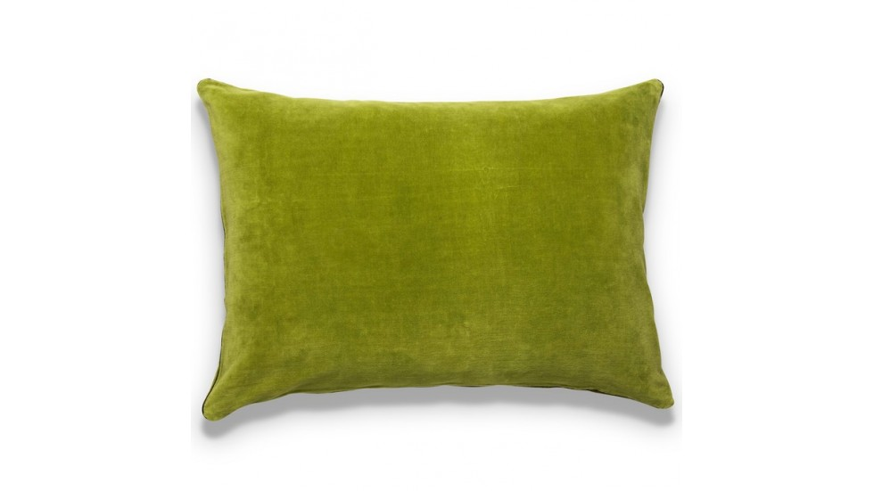 COUSSIN EURYDICE VELOURS UNI - FINITION GALON LUREX BRODÉ - MANGUE - 50x70CM