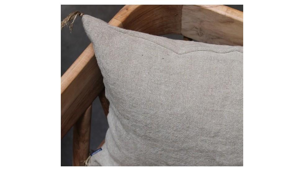 coussin caravane d coratif en lin naturel luni la maison. Black Bedroom Furniture Sets. Home Design Ideas