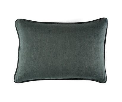 Coussin Waves 100% coton - finition passepoil brodé - treillis - 50x70cm