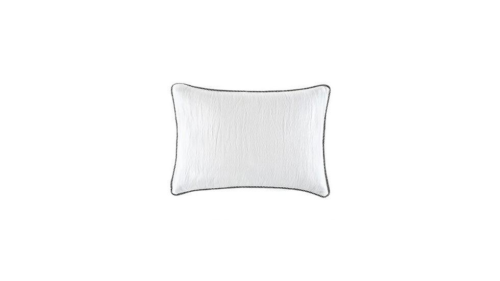 Coussin élitis WAVES, effet satiné , snow, 50x70 cm