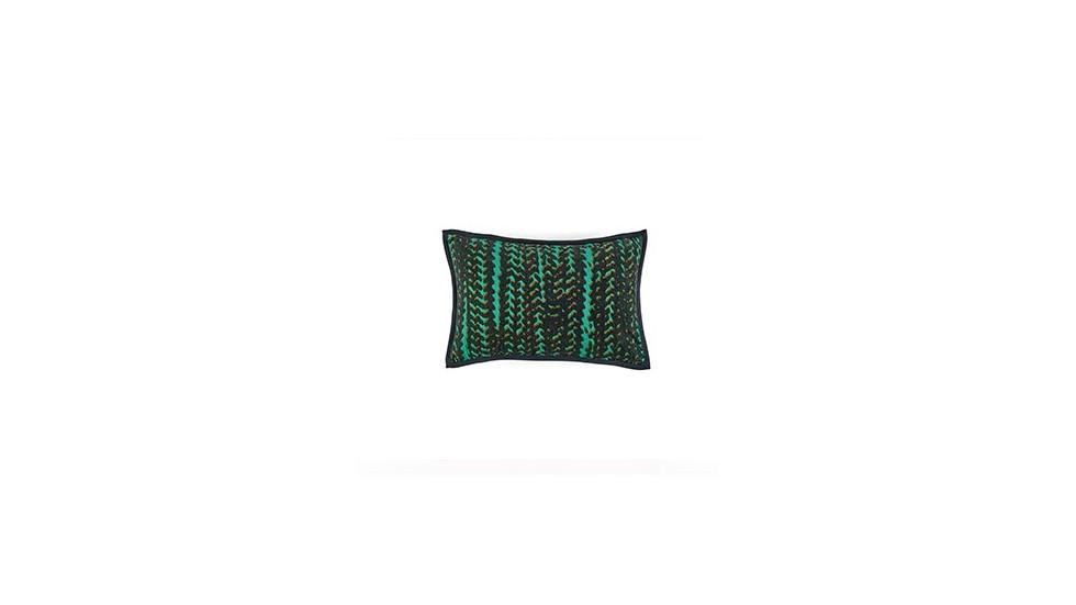 COUSSIN VELOURS COTON CHORUS élitis TURQUOISE- 30x45 cm