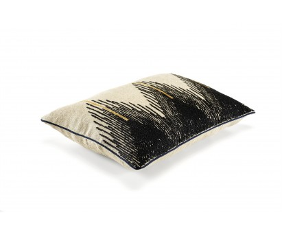 coussin élitis Joséphine en lin, naturel, 40x55 cm