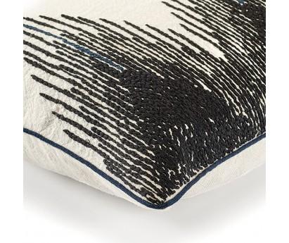 coussin élitis Joséphine en lin, blanc, 40x55 cm