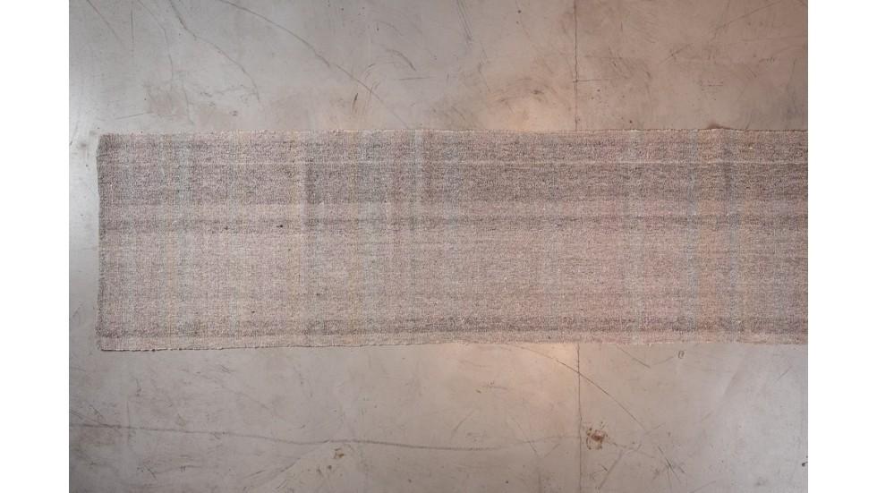 NOUVEAU- TAPIS DE PASSAGE KIRCIL EN LAINE GRIS - 500X87