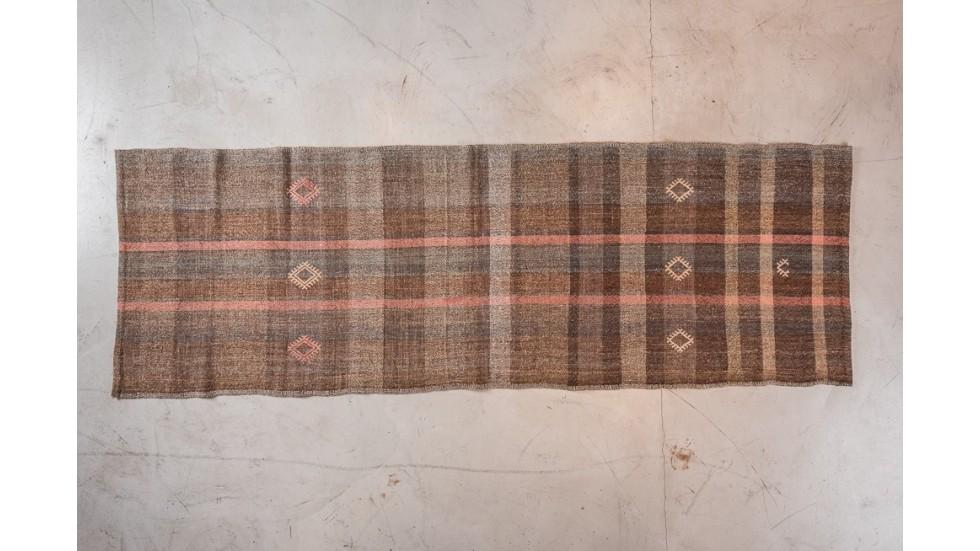 NOUVEAU- TAPIS DE PASSAGE ZAKATALA- LAINE- 261X87