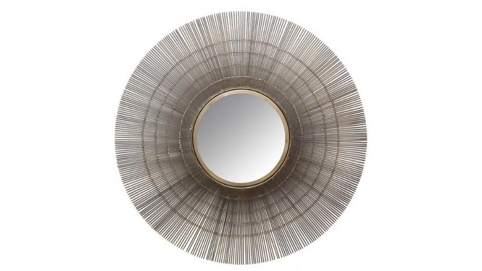 Miroir Sol- an acier laitonné-diamètre 80 cm