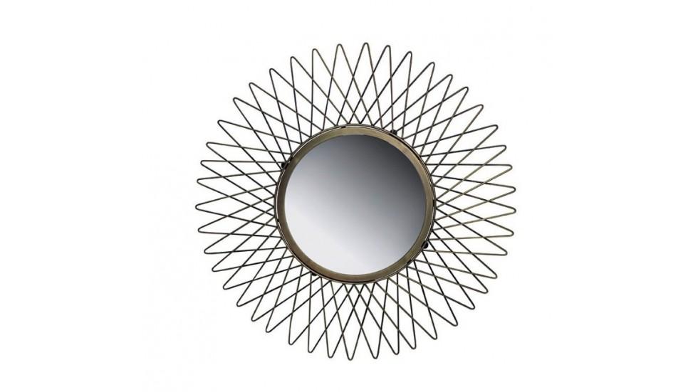 Miroir star- acier laitronné- diamère 63cm