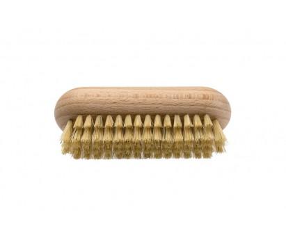 Brosse à ongles tradition- en soie blanche et bois de hêtre