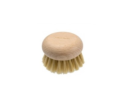 Brosse ronde pour le corps en soie blanche