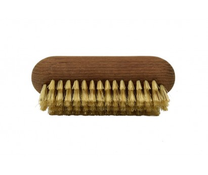 BROSSE à ONGLES HERITAGE - SOIE BLANCHE - FRENE THERMO-CHAUFFE