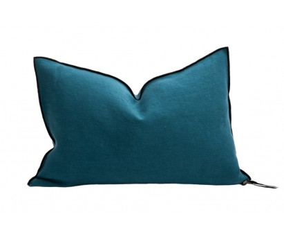 COUSSIN VICE VERSA BLACK LINE   LIN STONE WASHED   40cm x 60cm   PAON