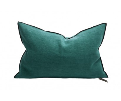 COUSSIN VICE VERSA BLACK LINE   LIN STONE WASHED   40cm x 60cm   CYPRES
