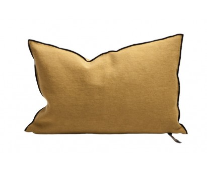 COUSSIN VICE VERSA BLACK LINE   LIN STONE WASHED   40cm x 60cm   OCRE