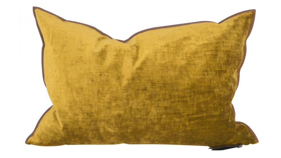 COUSSIN VICE VERSA VELOURS ROYAL -ocre-30x50cm