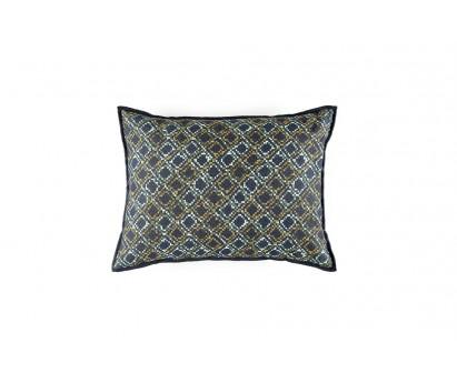 Coussin Pampilles- 100% velours- Bleu nuit- 40x55cm