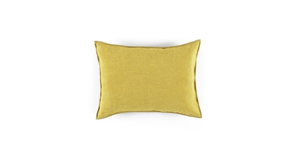 COUSSIN DREAMS ELITIS EN COTON/LIN, ASPECT VELOURS, GOLD - 40x55cm