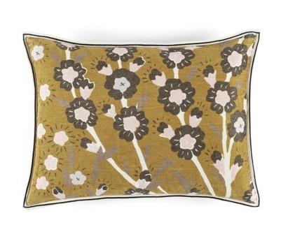Coussin flora sunny- élitis- Velours- 40x55 cm