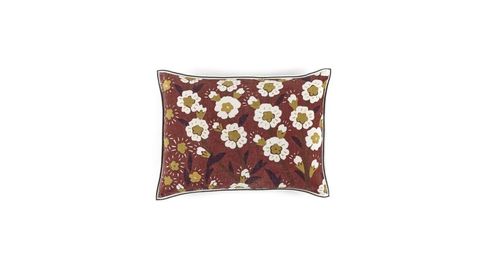 Coussin flora terracota- élitis- Velours- 40x55 cm