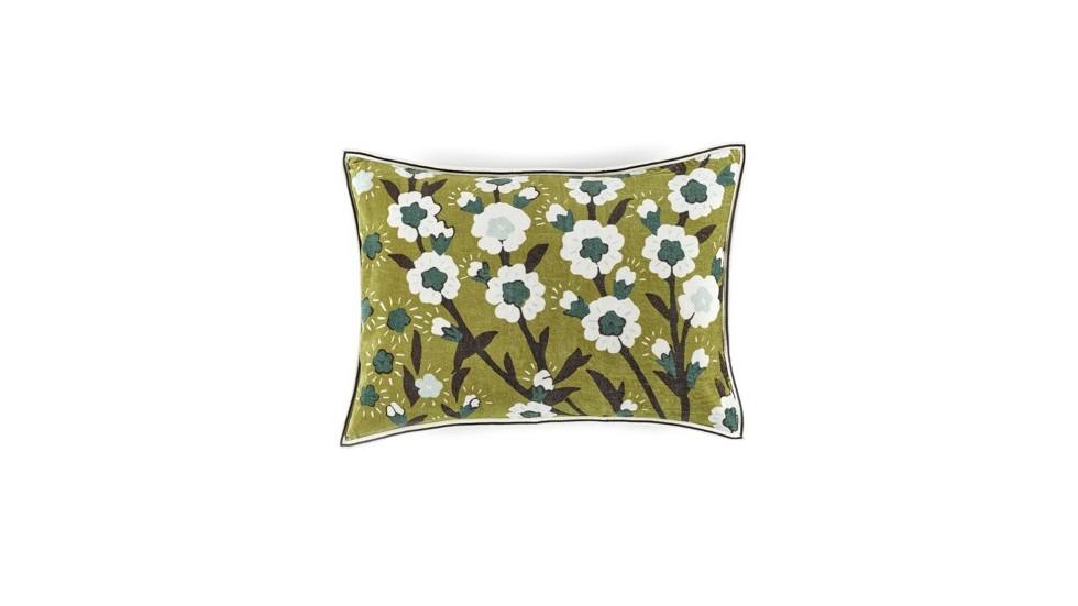 Coussin flora prairie élitis- Velours- 40x55 cm