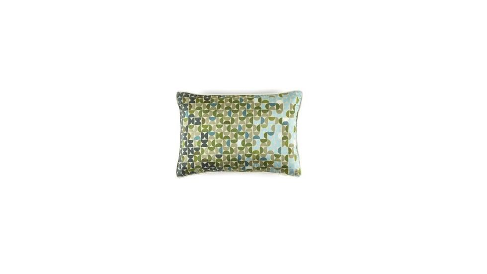 COUSSIN DIABOLO - 100% SOIE- FRESH GREEN- 30x45 cm
