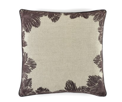 COUSSIN LOUISE - LIN BRODE - 50x50 cm  PLUM