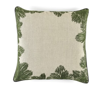 COUSSIN LOUISE | 50cm x 50cm | 100% LIN BRODE | TROPICAL