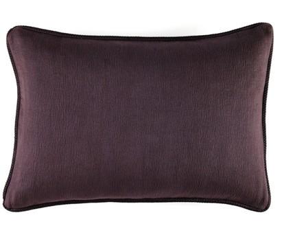 Coussin Waves 100% coton - finition passepoil brodé - prune - 50x70cm
