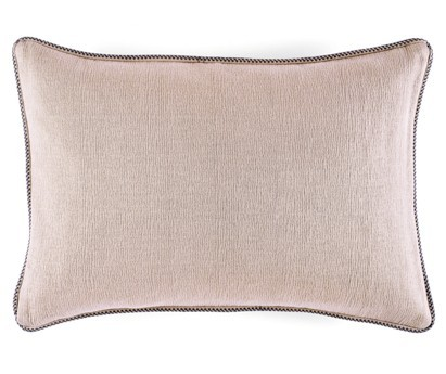 Coussin Waves 100% coton - finition passepoil brodé - sweet pink - 50x70cm