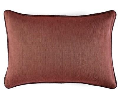 Coussin Waves 100% coton - finition passepoil brodé - terracotta - 50x70cm