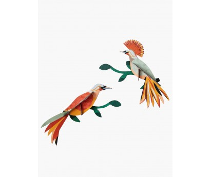 DECORATION MURALE | OISEAU DU PARADIS | OBI | 22cm x 6cm x 22cm
