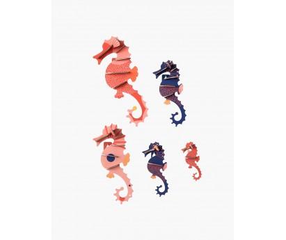 DECORATION MURALE | HIPPOCAMPES | 7cm x 3cm x 21cm
