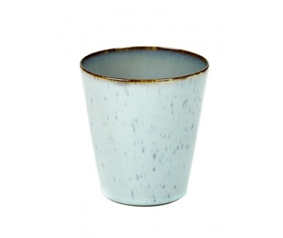 GOBELET TDR   M   Ø 8.5cm x H9.5cm   LIGHT BLUE-SMOKEY BLUE