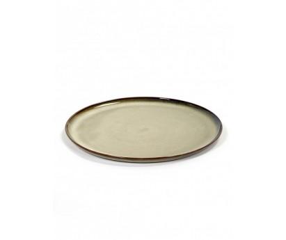 Assiette Terre de Rêve -L- Diamètre 26 cm - Gris