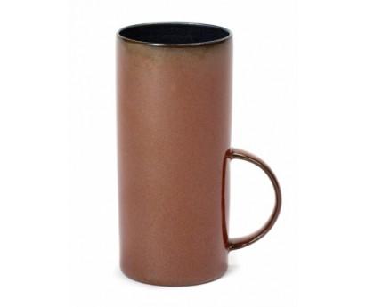 Tasse à thé - Terre de rêve-  Diamètre 6 Hauteur 13 cm-dark blue/rust