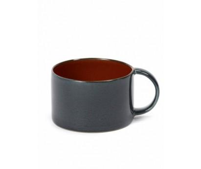 TASSE A CAFE TDR   D8cm x H5cm   MISTY RUST/DARK BLUE