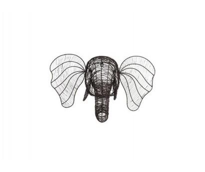 Tete d'éléphant- Eko- en fil de fer -grand modèle