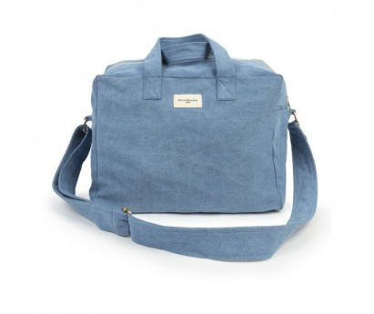 SAUVAL, CITY-BAG   RIVE DROITE   JEAN RECYCLE   DENIM STONE-WASHED