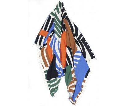 FOUTAS D-ODYSSEY | 100% COTON | 140cm x 200cm | 356 ORANGE BLEU