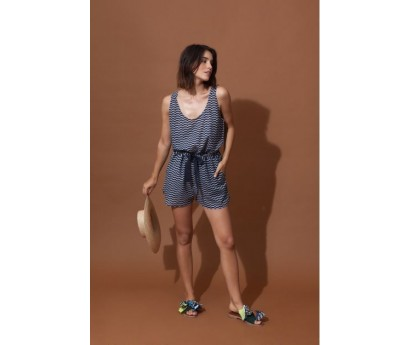 SHORT FEMME MAURICE - TAILLE UNIQUE - ALL OVER MARINE