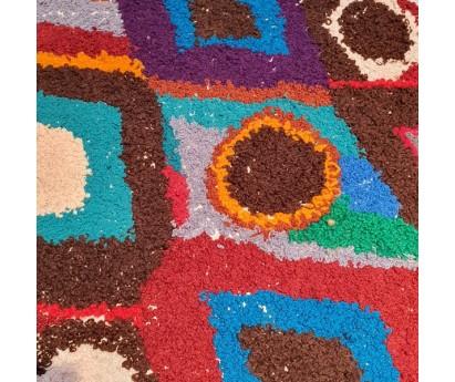 TAPIS ZENDACK LAINE ET COTON NOUE MAIN - N°5 - 70x55cm