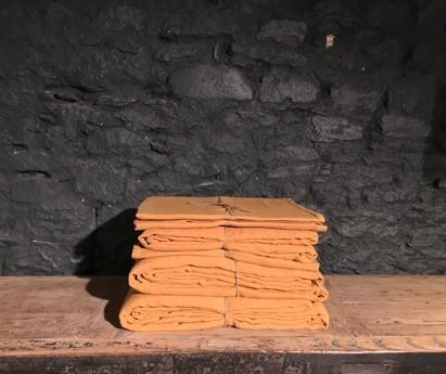 DRAP HOUSSE SIBA | 100% LIN LAVE | 140cm x 200cm | FAUVE