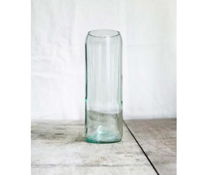 """Vase en verre """"Série limitée"""" - Bouteille - Bleu"""