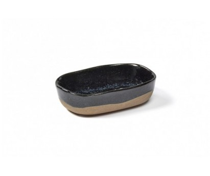 ASSIETTE  PROFONDE MERCI N°8 S | 9.8cm x 6.5cm H2.5cm | BLEU FONCE