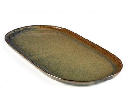 ASSIETTE A TAPAS SURFACE  - L - INDI GREY - 17x35.5cm